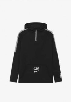 Nike Youth CR7 Dry-fit Hoodie 20/21 Black/White